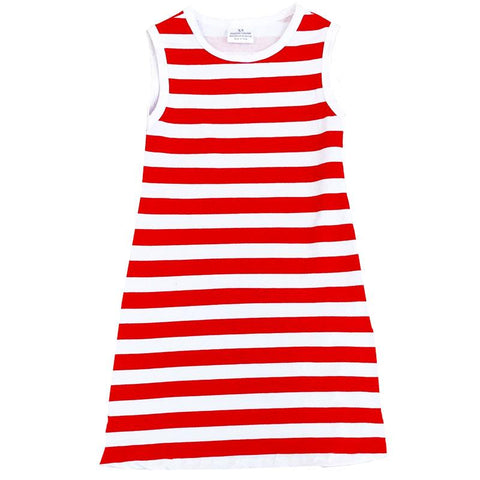 Red Stripe Dress Mommy