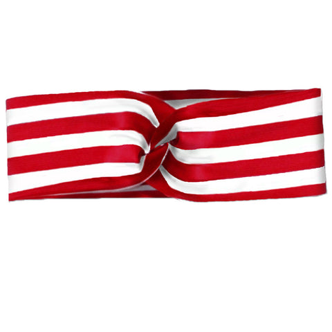 Red Stripe Mommy Turban Head Wrap