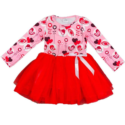 Red Tweet Heart Tutu Pink