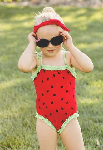 Red Watermelon One Piece Swimsuit