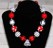 Red White Diamond Necklace