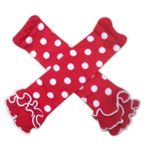 Red White Polka Leg Warmers