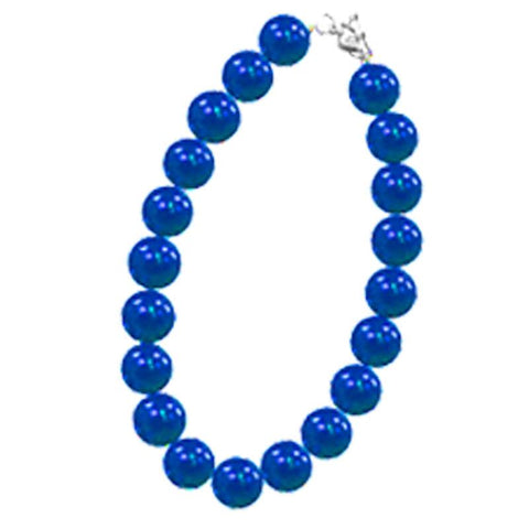 Royal Blue Necklace Chunky Gumball