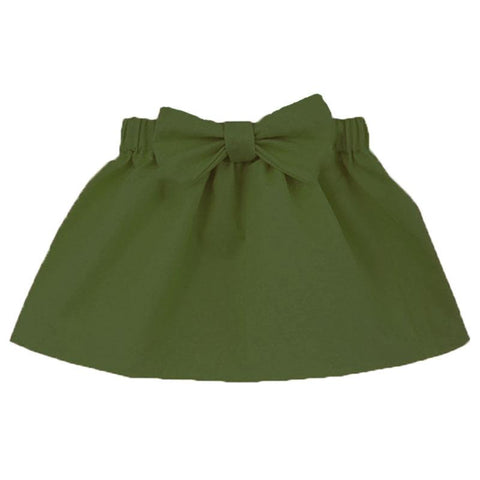Sage Forest Green Skirt Bow