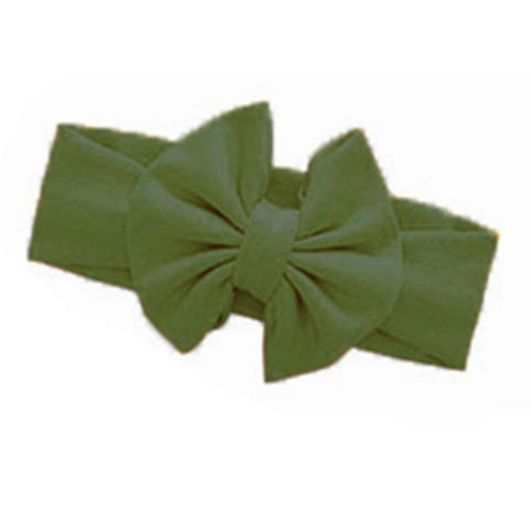 Sage Green Headband Messy Bow