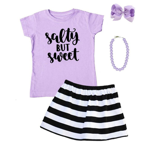 Salty But Sweet Outfit Black Stripe Purple