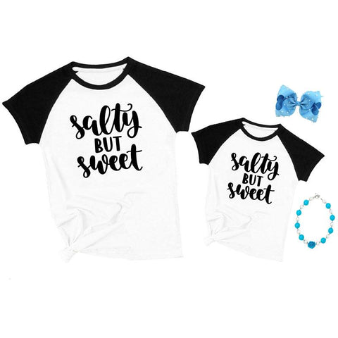 Salty But Sweet Shirt Raglan Mommy And Me