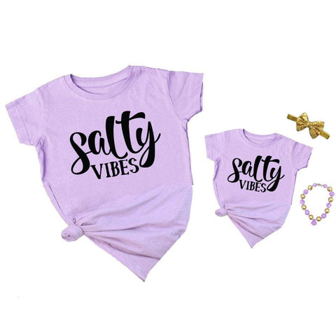 Salty Vibes Shirt Lavender Mommy And Me