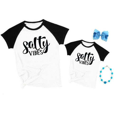 Salty Vibes Shirt Raglan Mommy And Me