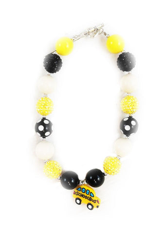 School Bus Necklace Chunky Gumball