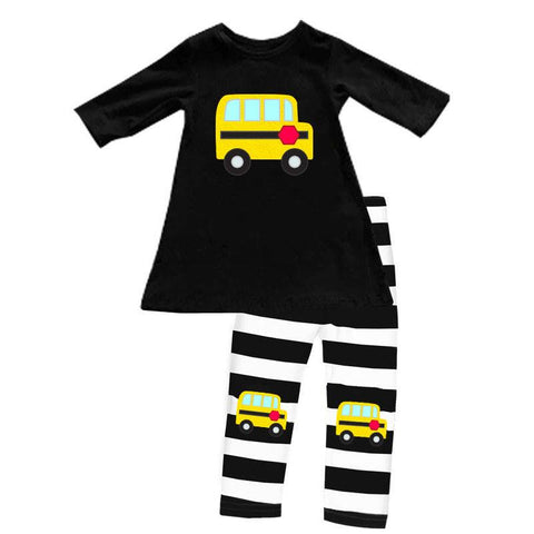 School Bus Outfit Black Stripe Top And Capri – Upon A Bowtique d988fd5767
