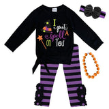 Spell On You Outfit Stripe Purple Tie Top And Pants