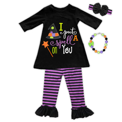 Spell On You Purple Stripetop Pant Set