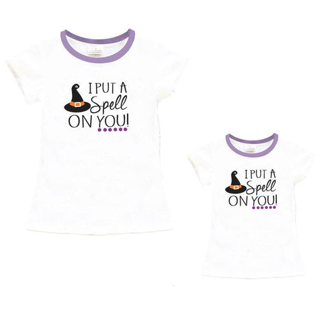 Spell On Your Shirt Lavender Witch Hat Mommy And Me