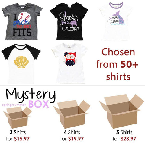 Spring Summer Shirt Mystery Box Girl