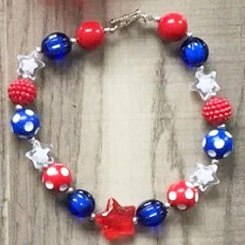 Star Polka Dot Necklace Chunky Gumball