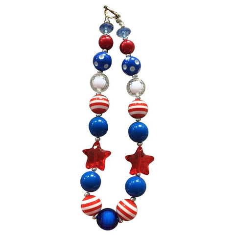 Stars And Stripes Gumball Necklace