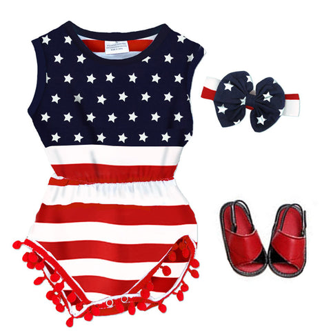 Stars And Stripes Romper