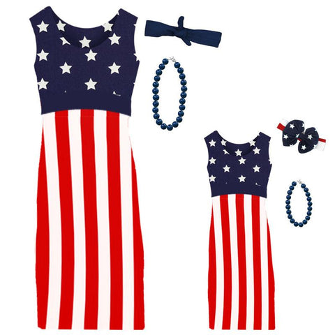 Stars And Stripes Sun Dress Mommy Me