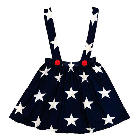 Stars Jumper Dress Red Buttons