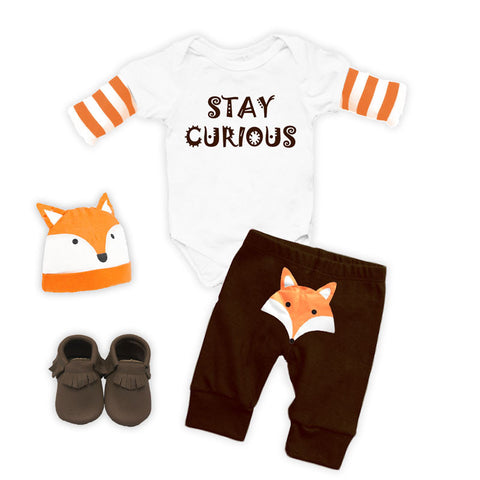 Stay Curious Fox Onesie Pant Set