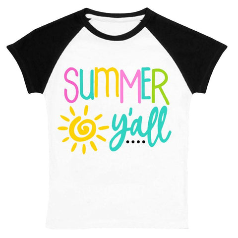 Summer Yall Shirt Mommy Me Black Raglan
