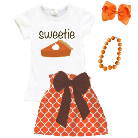 Sweetie Pie Outfit Orange Moroccan Top And Skirt