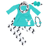 Teal Deer Outfit Black Scarf Top And Pants