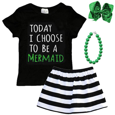 Today I Choose To Be A Mermaid Shirt Black Mommy Me