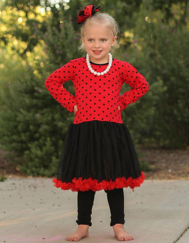 Toddler Lady Bug Polka Costume