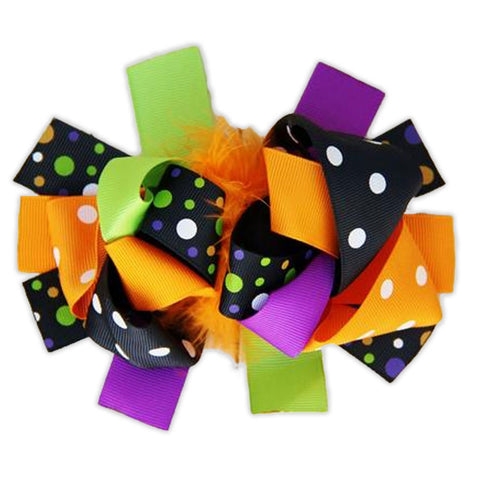 Trick Or Treat Polka Bow