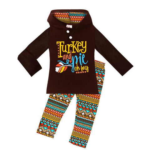 Turkey And Pie Outfit Aztec Hoodie And Pants