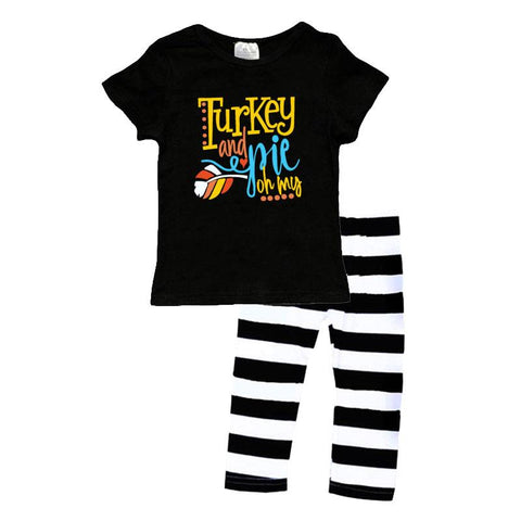 Turkey Pie Oh My Outfit Black Stripe Top And Pants