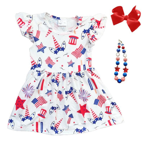 Unicorn Flag Dress Star White