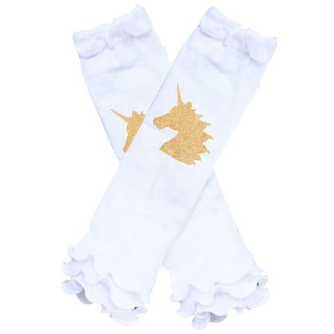 Unicorn Leg Warmers White Ruffle