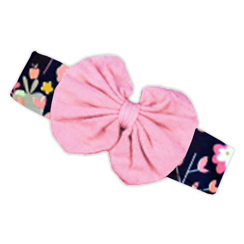 Unicorn Pink Messy Bow Headband