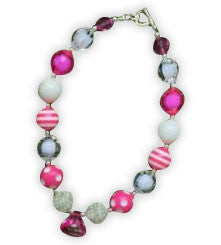 White Hot Pink Diamond Necklace