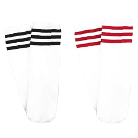 White Stripe Socks Knee High
