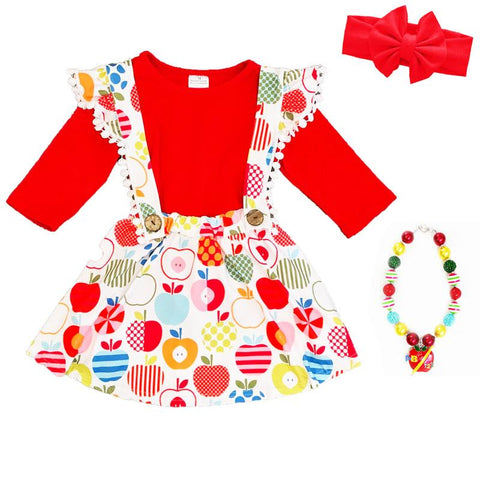 Wild Apple Outfit Red Top And Jumper