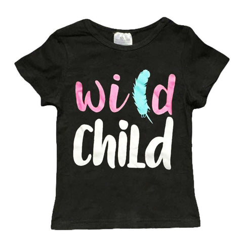 Wild Child Black Feather Shirt