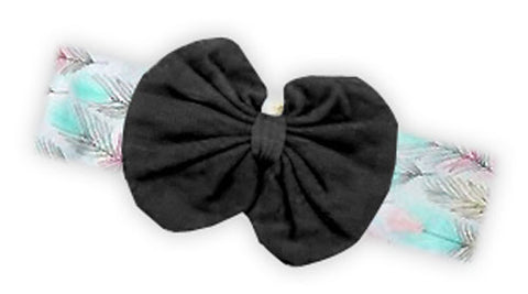 Wild Feathers Black Messy Bow Headband