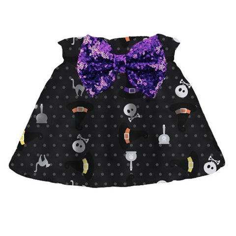 Witch Hat Skirt Purple Sequin Bow