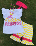 Yellow Chevron Pre-School Shorts Set