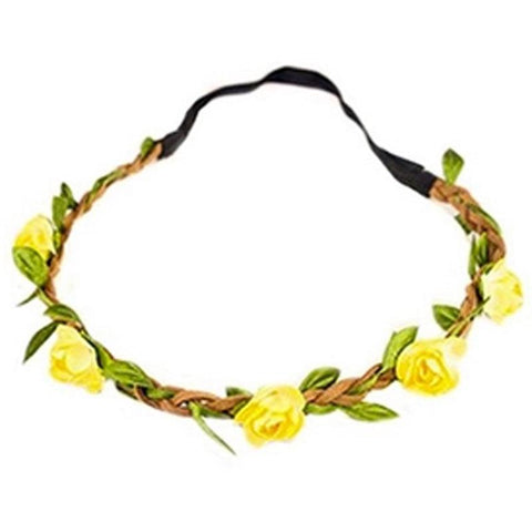 Yellow Flower Hair Wreath Headband
