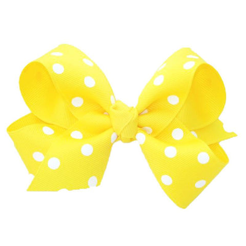 Yellow Knot Bow Polka Dot Ribbon