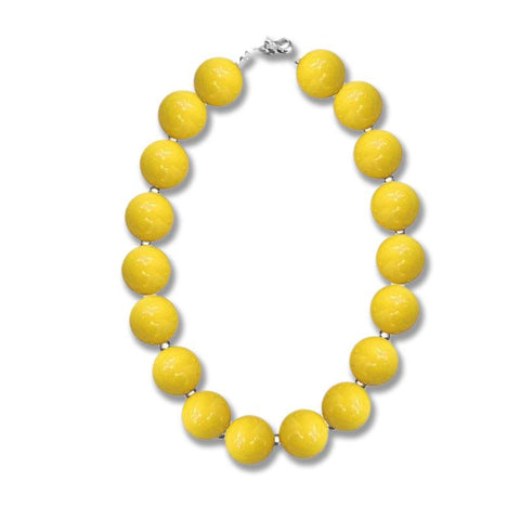 Yellow Necklace Gumball Chunky