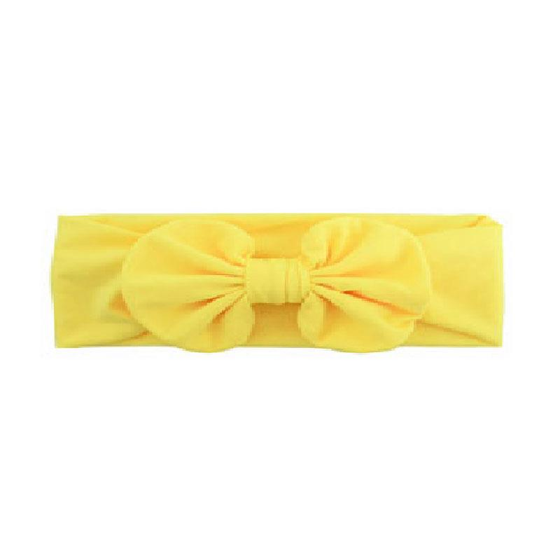 Yellow Ruffle Bow Headband