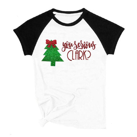 You Serious Clark Shirt Tree Raglan Mommy And Me