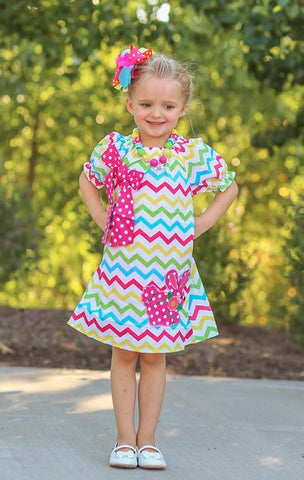 Easter Chevron Bunny Dress