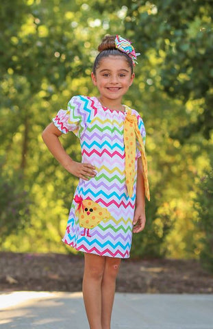 Easter Chevron Chick Dress
